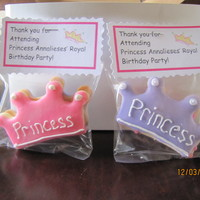 Princess Crown Cookie Favors Sugar cookie princess crowns, with glace icing and royal icing piping.