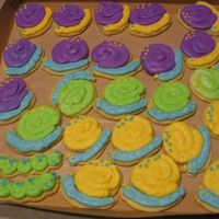 Snails And Caterpillars Cookies with buttercream frosting