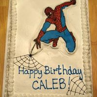 Spiderman  This is the first time I did the BC frozen transfer. I didn't want to use BC for the whole cake so I had to improvise and make a &quot...