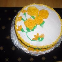 First Time Roses!! WASC Cake with Lemon Curd and Lemon Floroved Butter cream and my first time making roses!!