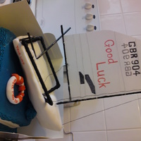 Boat Cake Sorry your leaving cake for work friend. Replica of his boat. Boat is not edible, is a fondant covered skeleton constructed from a large...