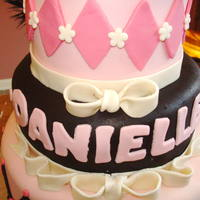 Sweet Sixteen Masquerade Sweet Sixteen cake for my daughter's friend in pink, black and silver - not really much silver.