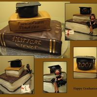 Graduation Cake I really love this site. I was inspired by many of the amazing bookcakes found on this site. Thanks!!Everything on this cake is edible! The...