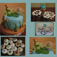 Wedding Cupcakes I made this cake for a wedding. The ceremony was outdoors on a beach and was natured themed. Both the bride and groom love frogs. I got the...