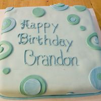 Brandon Turns 13 This was my first MMF cake and I think it turned out great, and the kids ate it up. I used a white cake box mix. Thank you for looking....