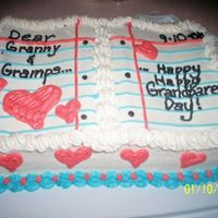 "Grandparents Day Wanted to try a ""book"" cake so I did this little number for my Granny and Gramps. Thank goodness they saw it through grandparents..."