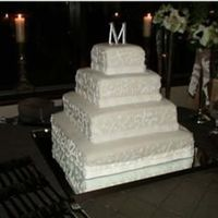 Ivory Square Wedding Cake This cake was a gift for some very dear friends. The tiers are 18, 14,10, 6. The cake is a doctored white cake with orange curd filling. It...