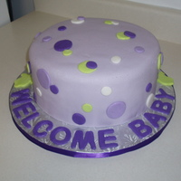 Polka Dot Baby Shower Cake   Cake colors inspired by Kleenex box. WASC Cake covered in fondant