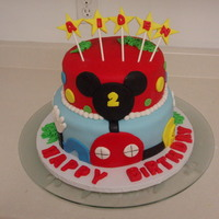 Mickey Mouse Club Cake   Birthday cake for a boy turning 2.