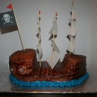 Airbrushed Pirate Ship