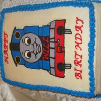 Thomas The Tank two layer 11x15 cake with Thomas FBCT...my first one!!!