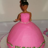 My Daughter's First Birthday Cake (And My First Doll Cake)  This is the doll cake I made for my daughter's first birthday princess-themed party. It is a cream cheese cake with crushed Oreo...