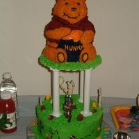 My Daughter's Second Birthday Cake The Winnie The Pooh cake I made. This is the most complicated cake I have ever made. I think I spent about 10-12 hours working on this cake...