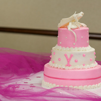 Sweet Baby Shower Cake With Ballet Slippers This three tiered baby shower cake has fondant ballet slippers on top. The mommy-to-be absolutely loved the cake, and kept the slippers for...