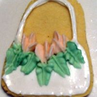 Flower Basket Cookie No fail w/ antonias icing and buttercream flowers and leaves