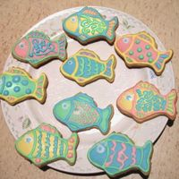 Fish Cookes- My 2Nd Decorated Cookies