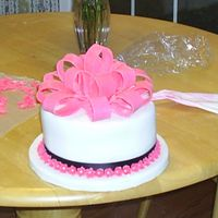 Ribbon Birthday Cake This was for a little girls birthday. Got the idea out of the Wilton Yearbook
