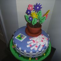 Garden Cake Was for a birthday cake for a coworkers mother. Copied the idea from a book