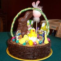 Easter Basket Cake  This is a cake I usually make at Easter. This particular one had a German chocolate cake as its base, but I have also made it with white or...