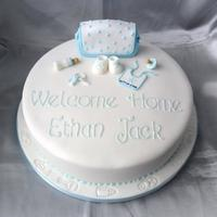 Home At Last I made this cake last year for a baby who was born 3 months early. Mom & dad were told to expect no more than a hello, but he came out...