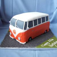 Vw Camper This was the cake that almost wasn't. It was ordered for a surprise party but then the guy found out & said he didn't want a...