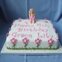 Fairy Cake This was made for my neighbours granddaughter. She originally wanted it 1/2 & 1/2 with a Christening cake for the little girl's...