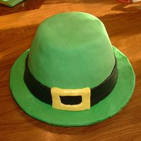 St. Patrick's Day Hat St. Patrick's Day hat, cake covered in buttercream and fondant.