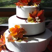 "Autumn Wedding   6, 9, 12"" stacked in an autumn theme."
