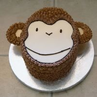 Monkey Cake I made this cake for my son's 1st Birthday party. As usual, I am not truly happy with the way it came out but it's not to bad...