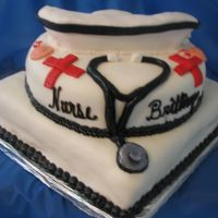 For A Nursing School Graduate This cake was a lot of fun to do!