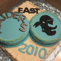 Raiders A cake made for the school where I work. we are the RAIDERS and the pirate mask is our logo. I had fun making this one because it was a...