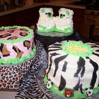 Quick Animal Birthday Just threw togther some animal print cakes for a last minute birthday celebration for my daughter. Ended up looking cute and she was...
