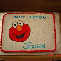 Elmo 2Nd Birthday  This is only my second cake attempt ever and I made it for my son's 2nd birthday. Thanks to everyone on this site who helped to make...