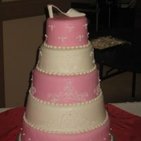 Crystal's Quinceanera   First fondant cake?!?!
