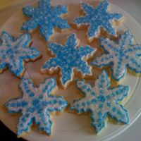 Snowflakes Made these for an early New Years Celebration. RI with sanding sugar.