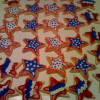Inaguration Day Cookies! We are celebrating President Obama's entrance to the white house. Made these cookies for a party we are having at work. NFSC with...