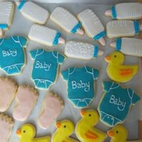 Baby Shower Cookies These are dried and ready to be wrapped.