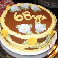 Chocolate Anniversary Cake This was a spur of the moment cake I made to take to my grandparents -- they'd just celebrated their 68th anniversary. For something I...