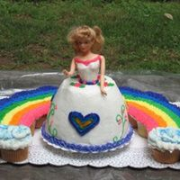 """rainbow Princess"" Birthday Cake I was given very specific instructions for my daughters 5th birthday party - a rainbow princess cake. The princess is a chocolate cake with..."