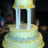 25Th_Anniversary The top & lower tier section are empty because the customer had her own cake topper. I didn't get a picture of the cake at the...