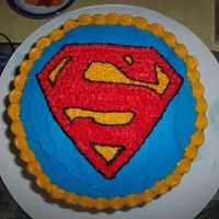 Superman Birthday Cake I made this cake today for my husband's birthday. He's an avid comic book collector and superman is his favorite character.