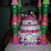 First Birthday Princess Castle I made this today for my daughter's first birthday. It's my first tiered cake, so it's a little messy looking but being my...
