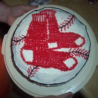 Boston Red Sox I made this for my father-in-law's 50th birthday. He's a HUGE BoSox fan so I thought the cake would be fitting. GO SOX!