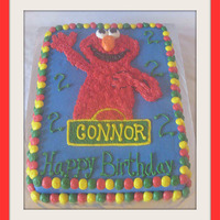 Elmo Birthday 11x15 sheet cake. All BC, hand drawn Elmo, (should have done transfer). Thanks KimAZ for inspiration!!