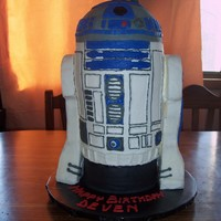 Buttercream R2D2 For Icing Smiles I made this cake for a little boy through Icing Smiles. It is made from 6 - 6inch layers of cherry chip cake and the top (half-ball pan) in...