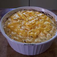 "Mac N Cheese Made this for July/August family birthdays. I also made a ""pot of Chili"" and a ""cherry pie"" I baked the cake in the..."