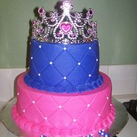 Pink And Purple Princess Cake The credit for this cake goes to Mac. My daughter was having a Pink and Purple party and loved Macs cake that I showed her on this site. It...