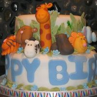 Zoo Cake This is a birthday cake I made for a little guy's 1st birthday last weekend!