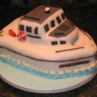 Fising Boat Birthday This is a fishing boat birthday cake I just finished for a friend. I had a lot of inspiration from great cake designers out there!! Thanks...