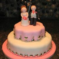 Cute Little Wedding Reception Cake This is a cake I made for my little brother's wedding reception.